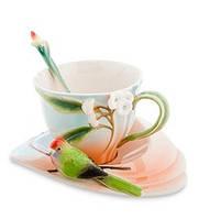 Фарфоровая чайная пара Попугай Розелла (Pavone) FM- 79/ 2, фото 1