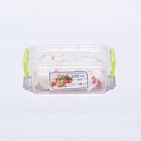 Контейнер для хранения продуктов с зажимами LUX - 0,5л