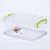 Контейнер для хранения продуктов с зажимами LUX - 2,8л