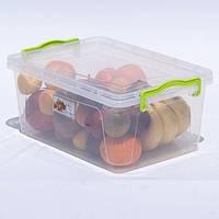 Контейнер для хранения продуктов с зажимами LUX - 9,5л, фото 1