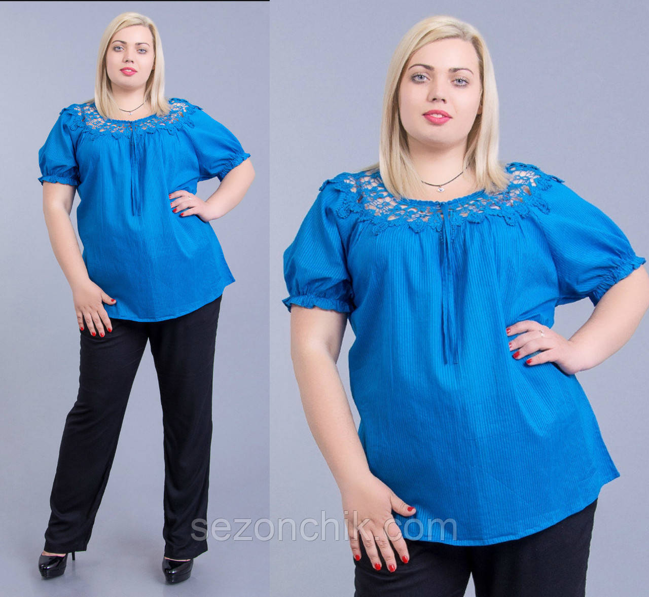 Блуза женская бирюзового цвета интернет магазин