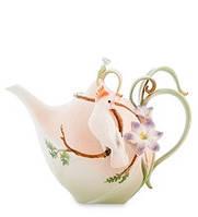 Фарфоровый заварочный чайник Попугай Какаду (Pavone)