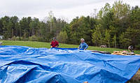 Тент Тарпаулин накрытие сена, накрытие соломы, накрытие кормов, накрытие зерна, тенты от дождя, для сіна