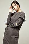 2236 платье Шана,брызги серый (L), фото 2