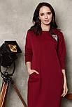 2281 платье Коди, вишня (S), фото 2