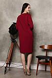 2281 платье Коди, вишня (S), фото 3