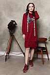 2287 платье Комо, вишня (S), фото 4