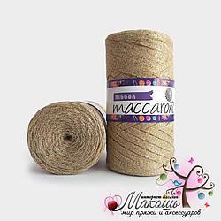 Пряжа Maccaroni Ribbon с глитером, 111, беж