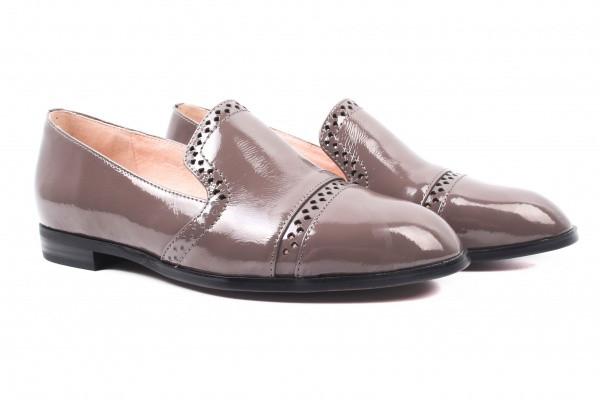 Туфли комфорт Lady Marcia лаковая натуральная кожа, цвет серый