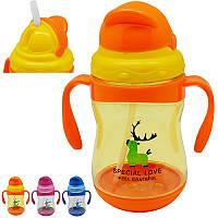Детская чашка-поилка, бутылочка для воды с защитой от проливания, R83596