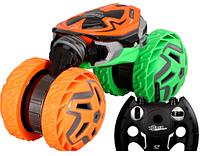 Детская радиоуправляемая машина перевертыш на р/у (Оранжевый) автомобиль-трансформер легко едет по камням