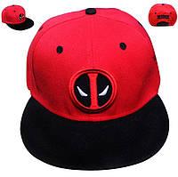 Кепка бейсболка Дэдпул Deadpool красная DP.1