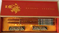 """Палички для суші """"Замальовки"""", в подарунковій коробці, з підставками"""
