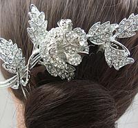 Гребень для волос на свадьбу. Нежный цветок