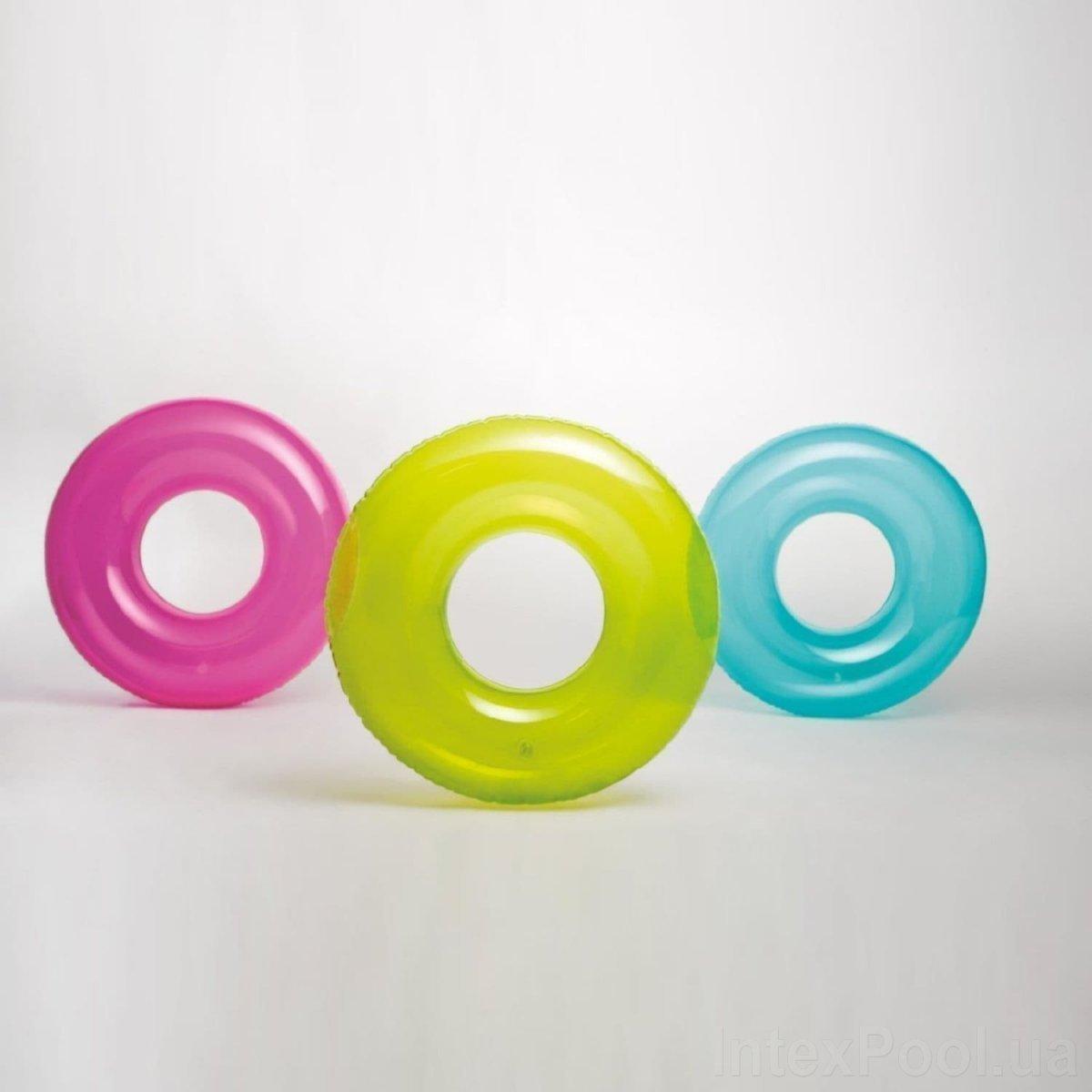 Надувной круг Intex 59260 «Прозрачный», 76 см, Три цвета