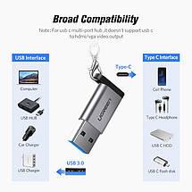 Переходник-адаптер USB 3.0 к Type-C Ugreen US276 (Темно-серый), фото 2