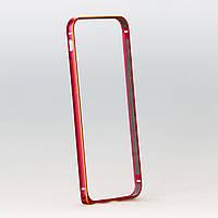 Бампер Gold Red алюминиевый красный с золотом для iphone 6