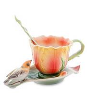 Порцеляновий чайна пара Тюльпани (Pavone) FM - 83/ 5, фото 1