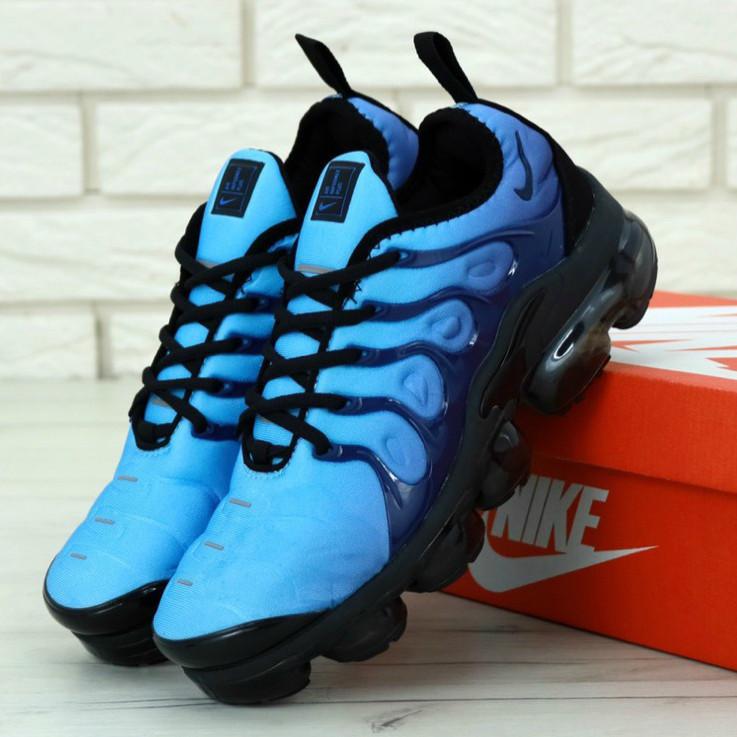 4998212e Мужские Кроссовки Nike Air VaporMax Plus Blue/Black, Найк Аир ВапорМакс  Плюс / Реплика 1:1 Оригинал