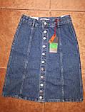 Довга джинсова спідниця на гудзиках, фото 2
