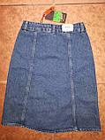 Довга джинсова спідниця на гудзиках, фото 3
