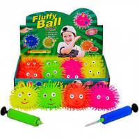 Мяч «Ежик светящийся» 4 см