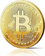 Сувенирная монета Bitcoin Биткоин криптовалюта 40 мм