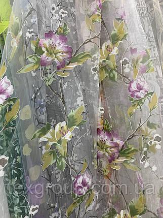 Тюль органза цветок 912, фото 2