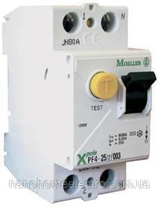 Дифференциальный автоматический выключатель Moeller-Eaton PFL4 40А 30мА