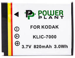 Аккумулятор PowerPlant Kodak KLIC-7000 820mAh