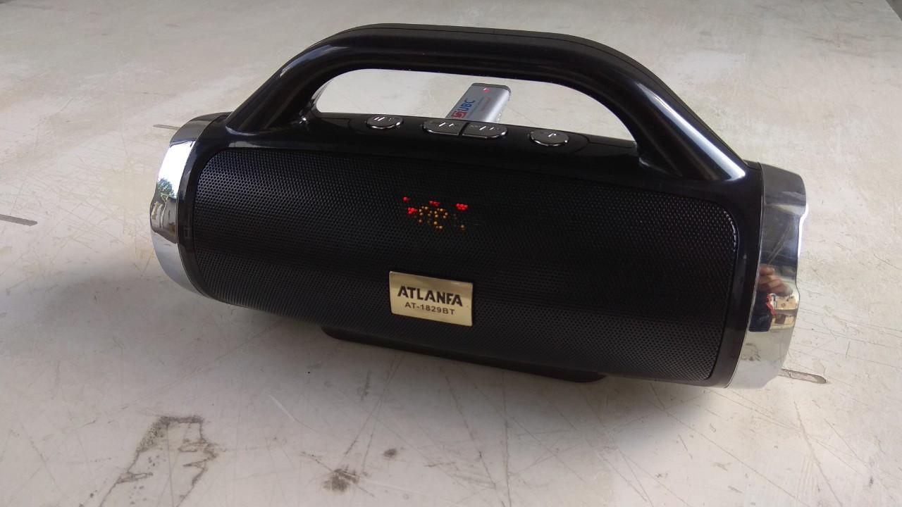 Колонка портативная акустическая Atlanfa AT-1829ВТ,FM, 12W + USB и функциейPower Bank