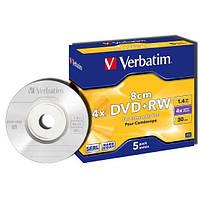 DVD+RW MINI 1.4 GB  диск 8 см Verbatim для видеокамер
