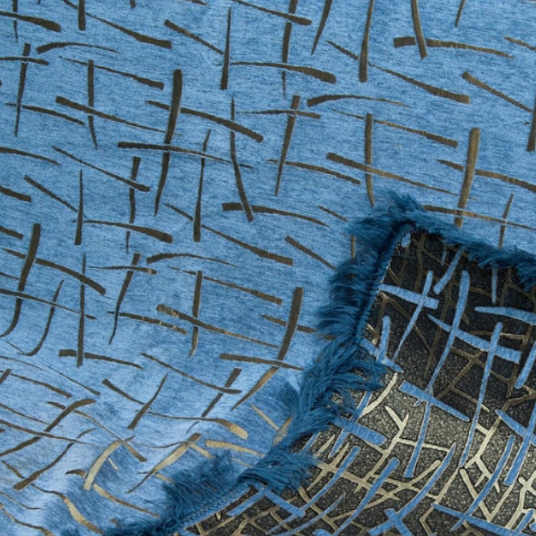 Покрывало полуторное 150*200 Брызги голубые