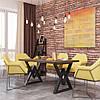 Стол обеденный Астон 750/1200/750 ТМ Металл-Дизайн