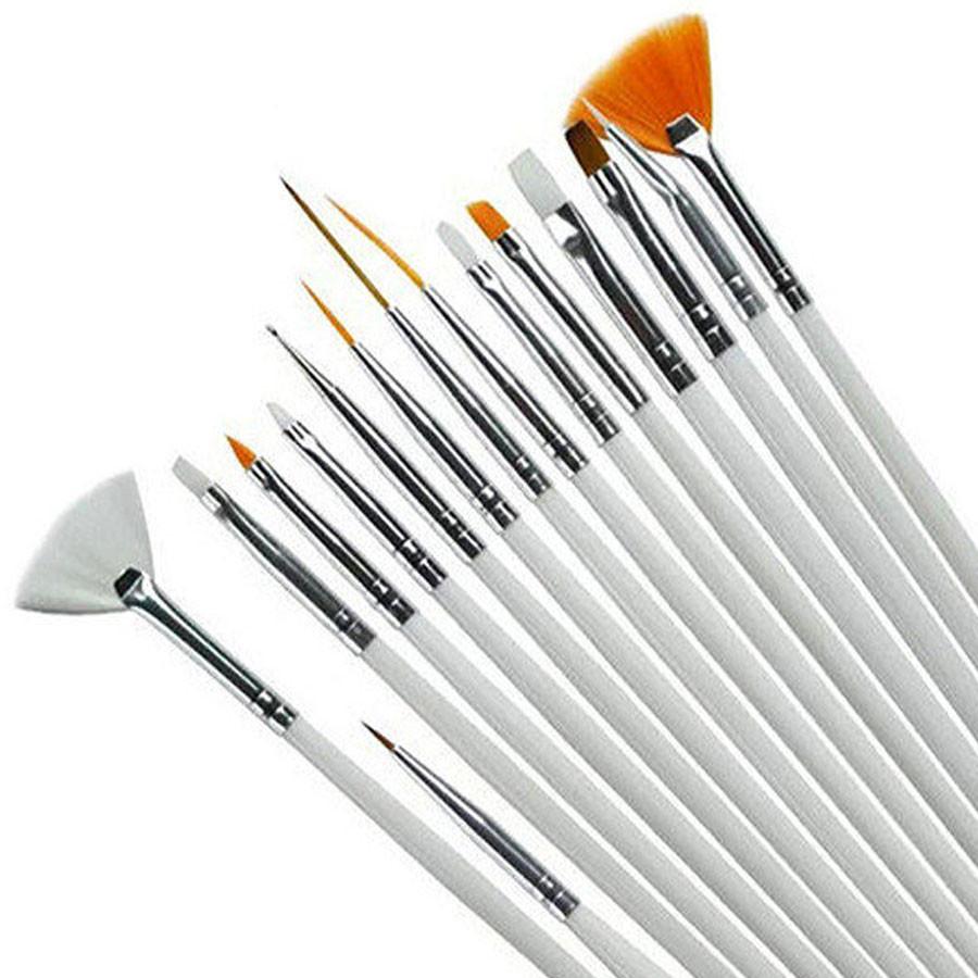 Набор кистей для росписи ногтей, 15шт