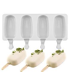Силиконовая форма для евродесертов Эскимо, мороженное, 7см