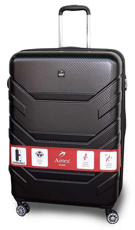 cf51d2690e9d Пластиковый дорожный чемодан на колёсиках Airtex 7313 большой с расширением  (Франция)