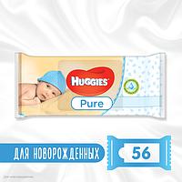 Детские влажные салфетки Huggies Pure 56 шт