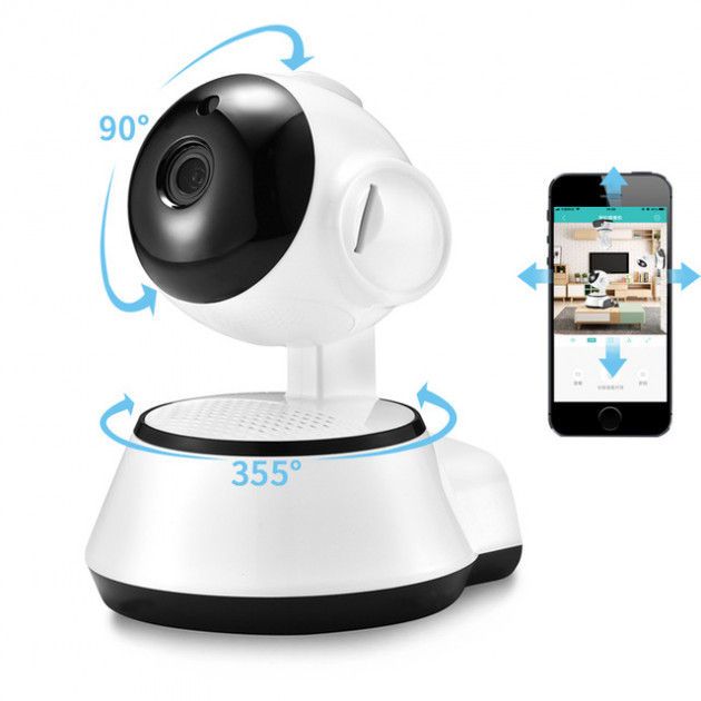 Ip WI-FI камера поворотная видеонаблюдения с  удаленным доступом z100s Видеоняня c записью