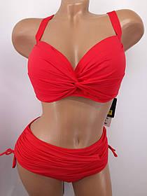 Купальник на большую грудь красный 3917 на 48 50 52 54 56 размер.