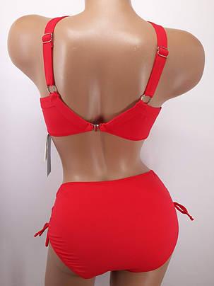 Купальник на большую грудь красный 3917 на 48 50 52 54 56 размер., фото 2