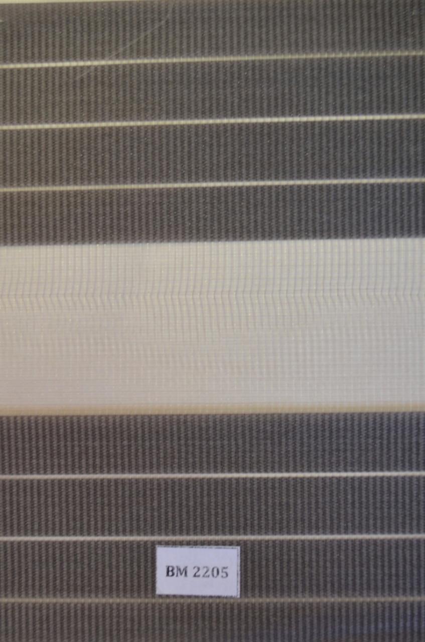 Рулонные шторы день-ночь серые ВМ-2205