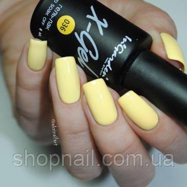 Гель лак INGARDEN X-GEL (теплый желтый с нотками янтаря) № 036, 8 мл, фото 2