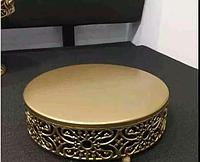 Металлическая подставка   диаметр 30 см  высота 6,5 см  стойка столик