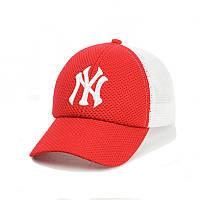"""Кепка- бейсболка  """"New York""""  с сеткой Красный"""