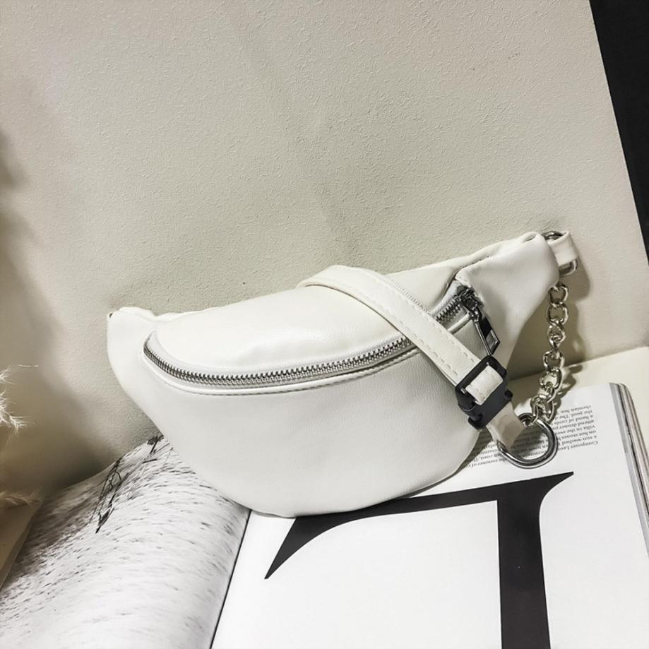 2e124e962 Молодежная женская сумка на пояс. Сумка-бананка. Поясная белая сумка. КС107-