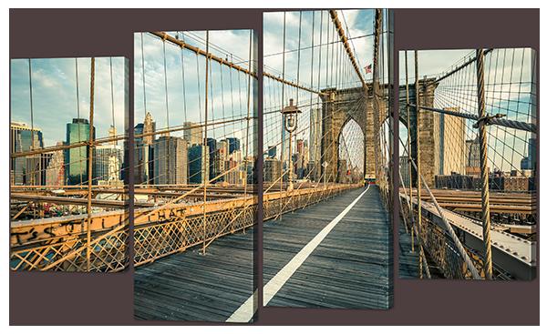 Модульная картина Interno Искусственный холст Мост пешеходный 114x69см (Z930M)
