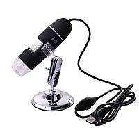 Цифровой микроскоп USB Magnifier SuperZoom 50-1000X с LED подсветкой (PR1491)