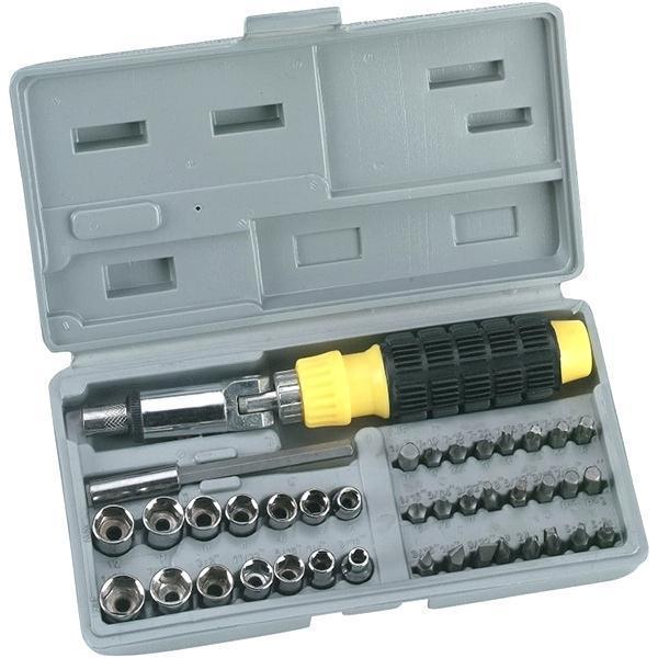 Набір інструменту AIWA 41-Piece bit and Socket Set 40 предметів у пластиковому кейсі,автомобільний набір