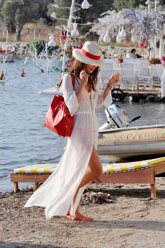 Пляжное бежевое платье длинное  AL-7013-15